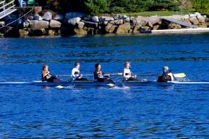 Meggie, Kelsey, Jackie, Sam M, Tori - Varsity Women's 4+