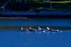 Kevin, Mac, Niko, Connor - Varsity Men's 4X, Gold Medalists